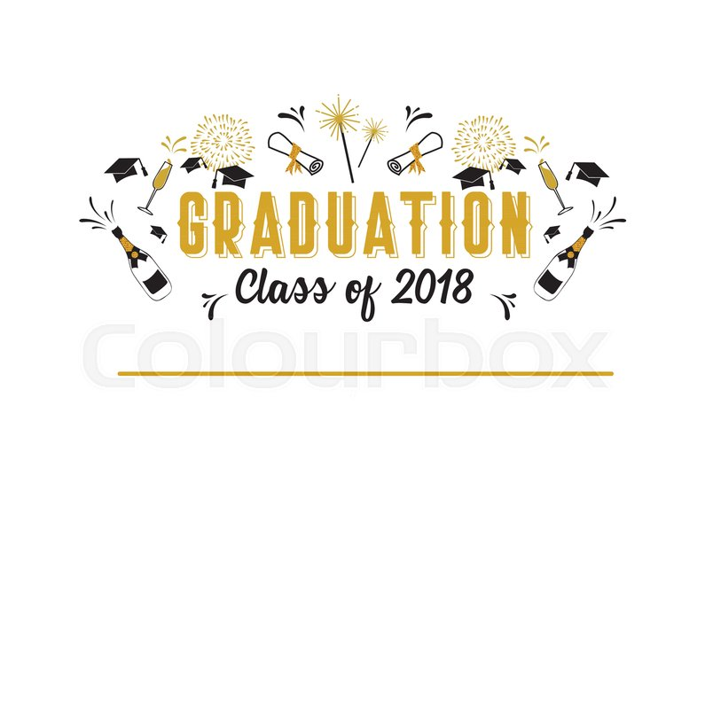 Graduation Class of 2018 greeting card and invitation template ...