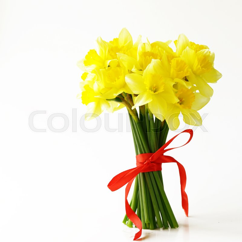 Bouquet spring yellow flowers daffodils stock photo colourbox mightylinksfo