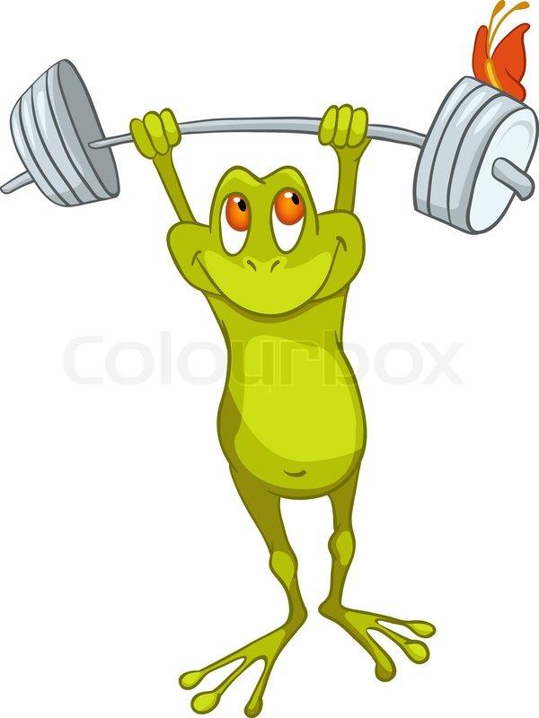 Standing Cartoon Frog