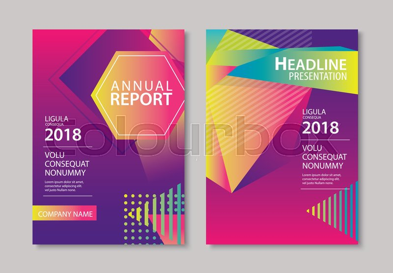 abstract gradient modern geometric flyer and poster design template