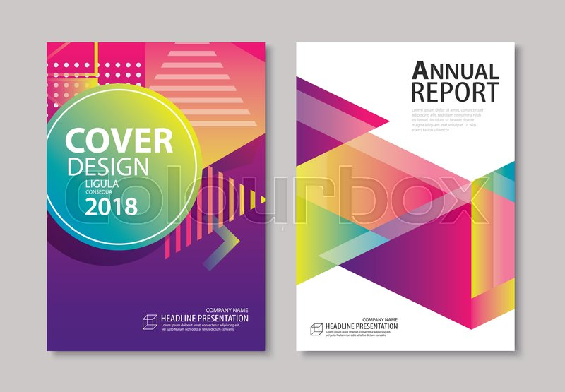 abstract gradient modern geometric flyer and poster design template background use for brochuer book cover report corporate annual business magazine