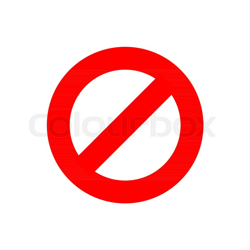 Stop Sign Vector Icon In Flat Style Stock Vector Colourbox