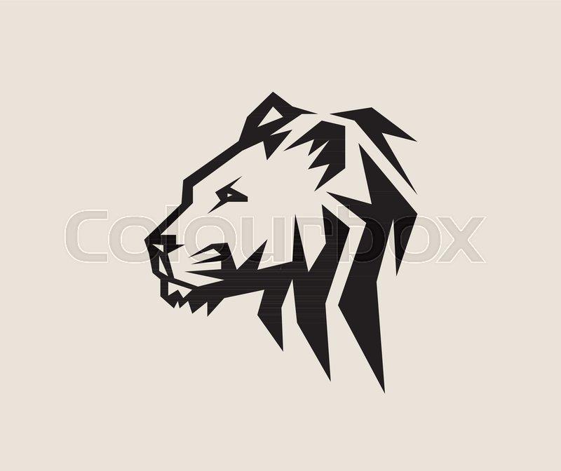 face lion logo art vector design stock vector colourbox