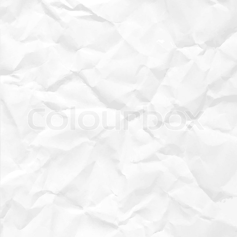 Paper crumpled seamless texture vector office background ...