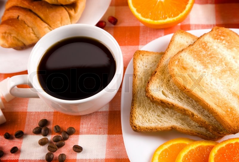 Breakfast With Toasts Jam Coffee And Fruits Image 3263471 on Us My Healthy Plate