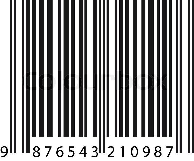 Isolated Example Barcode On White Stock Vector Colourbox