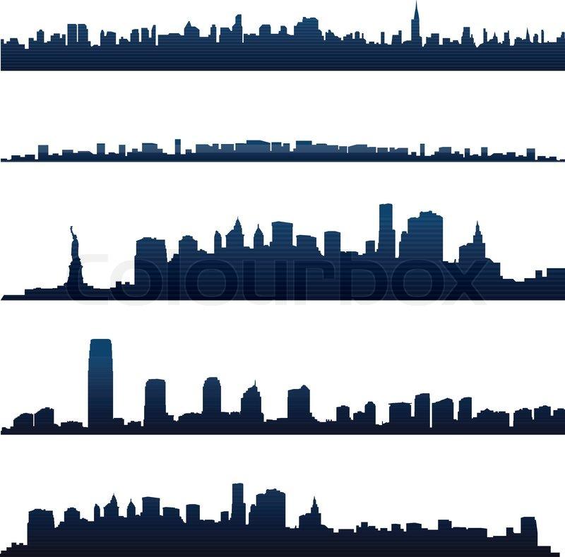 Cityscape Silhouette Background