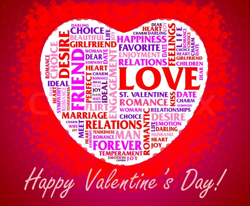 Valentineu0027s Day Collage Over Heart Shaped Background | Stock Photo |  Colourbox