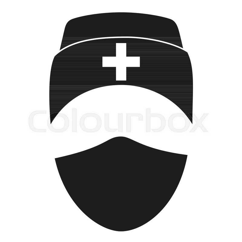 Black And White Medical Person Avatar Silhouette Healthcare Themed