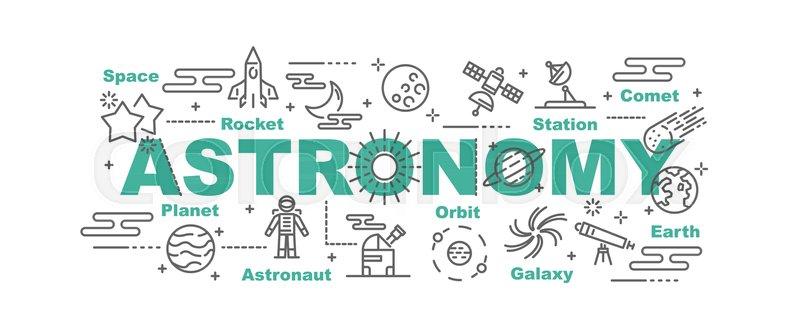 Astronomy Vector Banner Design Stock Vector Colourbox