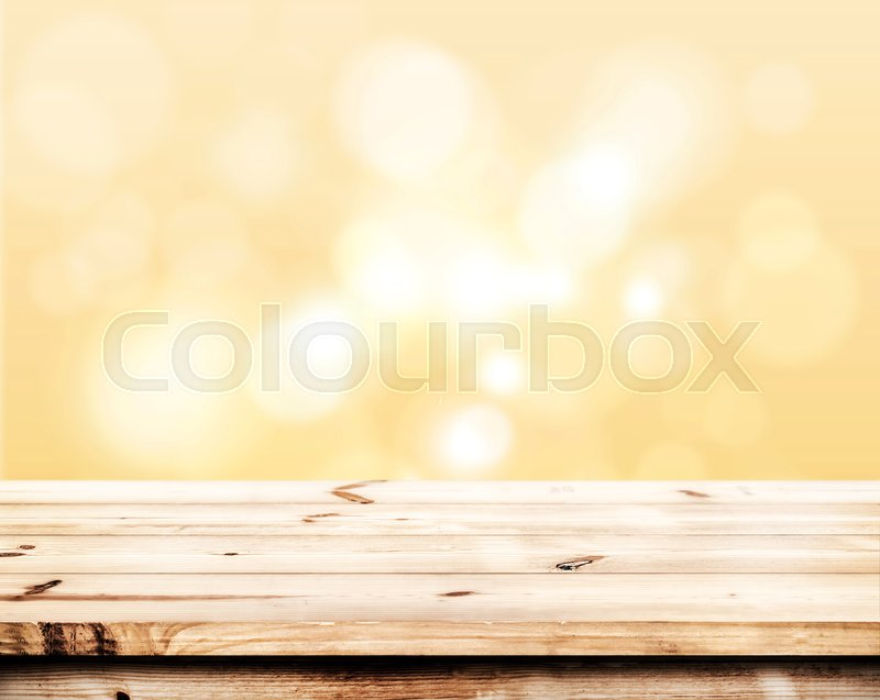 Empty wood table ready for your product     | Stock image