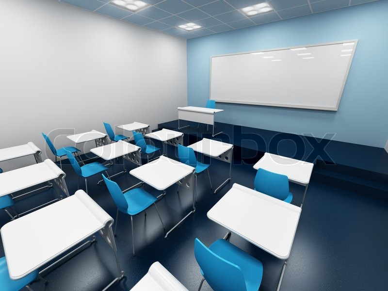 Modern Classroom Furniture Ideas ~ Modern classroom d rendering stock photo colourbox