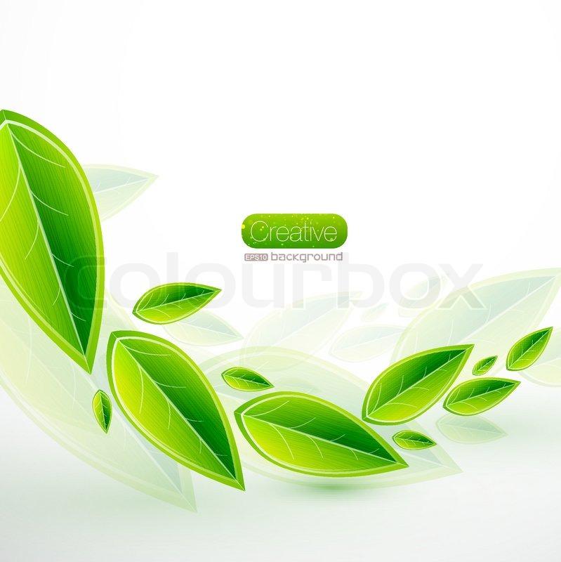 abstract natural green vector - photo #35