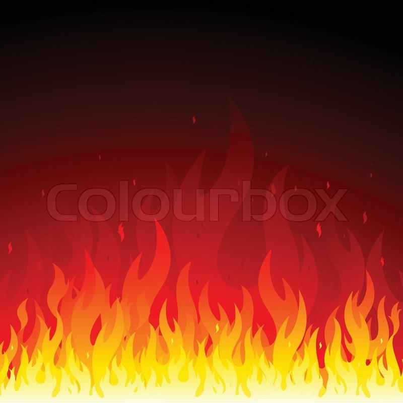Fire Flames Symbol Set  Stock Vector Colourbox