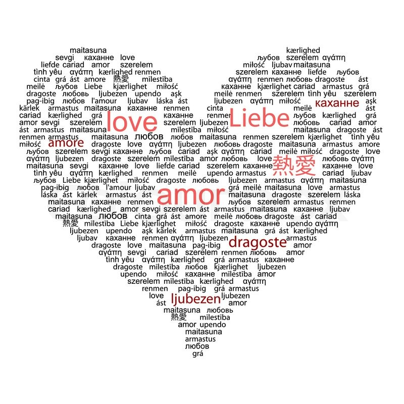 how to say love in many languages