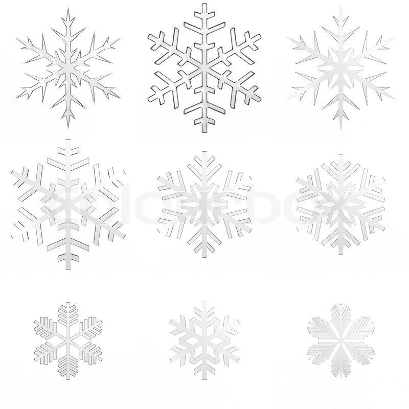 set wei em transparent schneeflocken auf wei em. Black Bedroom Furniture Sets. Home Design Ideas