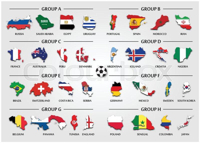 7a7850e0879 Football or Soccer cup team group set ...   Stock vector   Colourbox