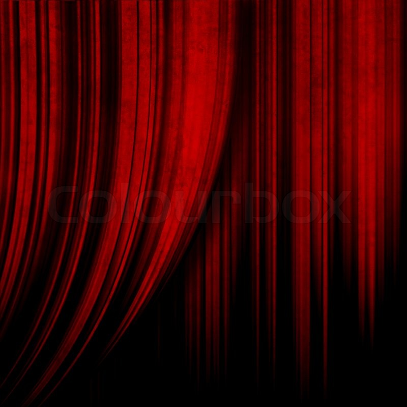 Dark red theater curtain stock photo colourbox for Theatre curtains psd