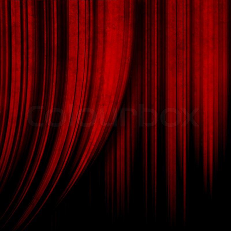 Good ... Dark Red Theater Curtain ...