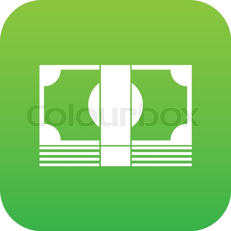 Swiss Franc Banknote Icon Digital Green For Any Design Isolated On