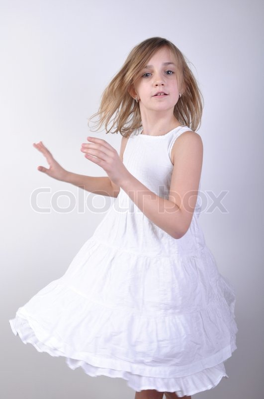 Portrait Of A Beautiful Young Girl In   Stock Image -7882