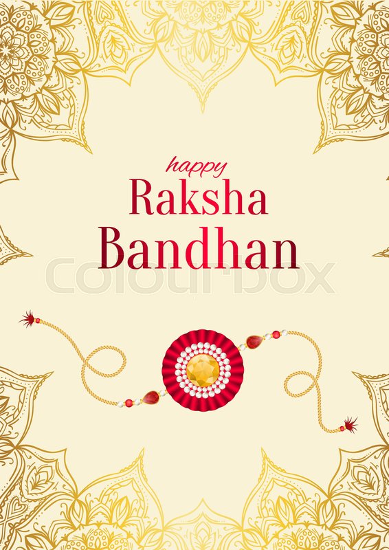Raksha bandhan vector background rakshabandhan greeting card with raksha bandhan vector background rakshabandhan greeting card with rakhi a talisman or amulet hindu festival to symbolize the love between a brother and m4hsunfo