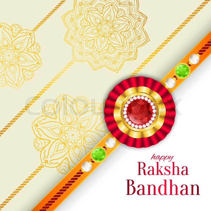 Raksha bandhan vector background rakshabandhan greeting card with raksha bandhan vector background rakshabandhan greeting card with rakhi a talisman or amulet hindu festival to symbolize the love between a brother and m4hsunfo