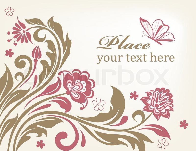 vector floral background with decorative flowers for design stock vector colourbox - Decorative Flowers