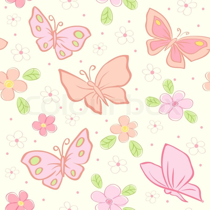 seamless vector background with butterfly stock vector