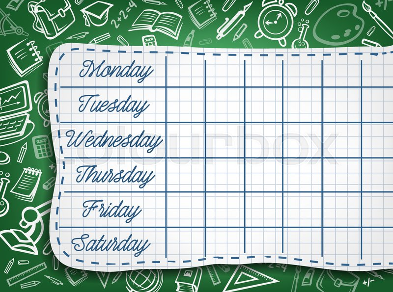 school timetable of lesson schedule template weekly lesson plans on