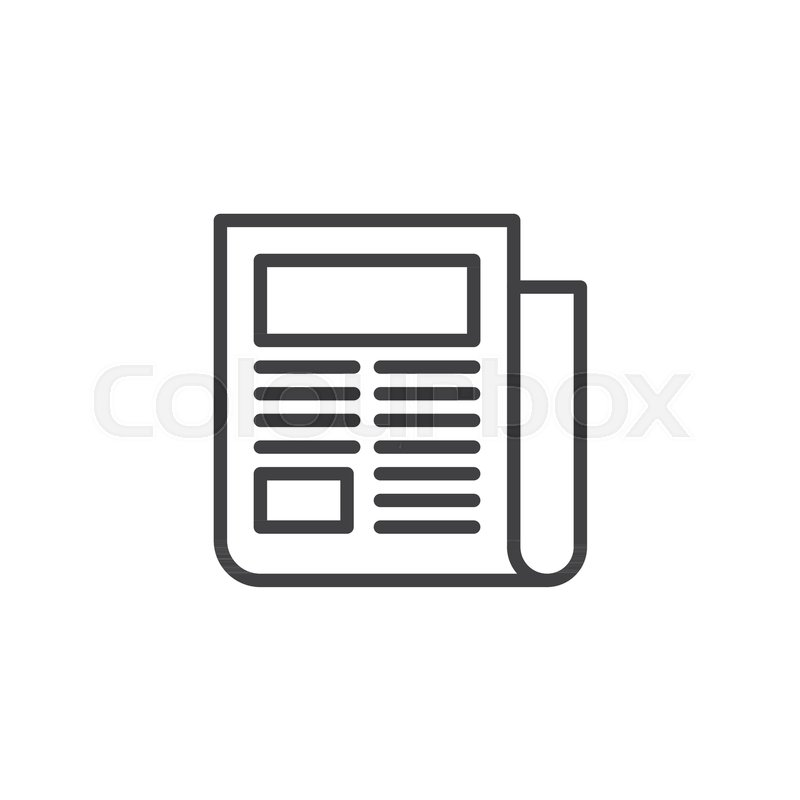 Newspaper Outline Icon Linear Style