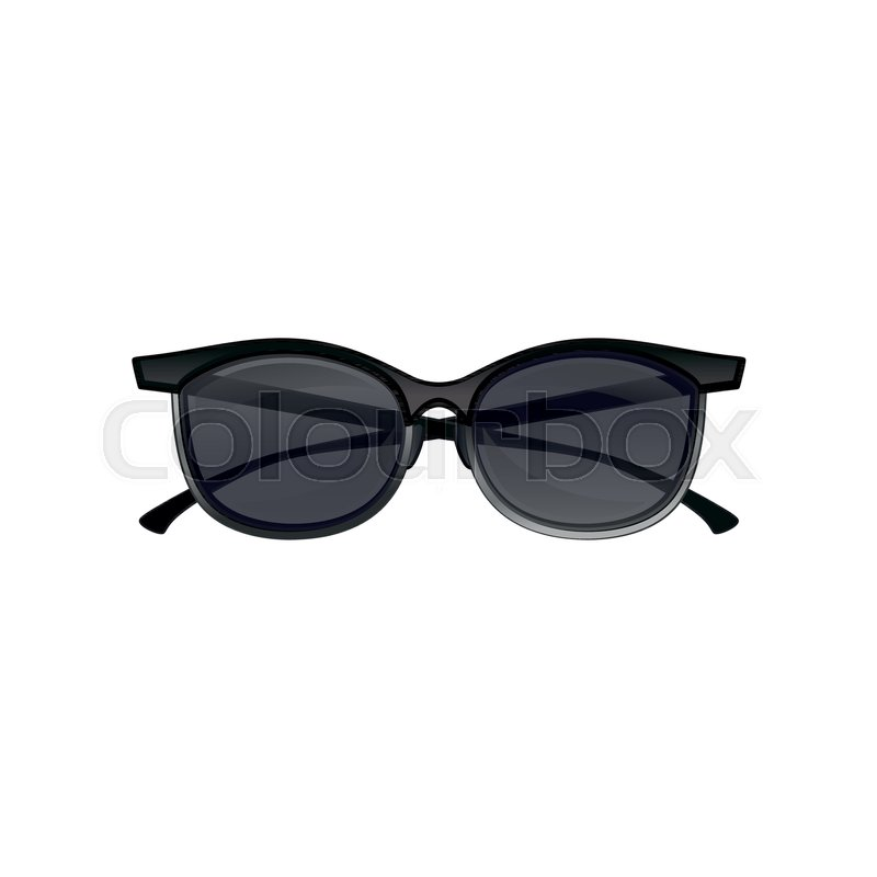 Icon of vintage clubmaster sunglasses black tinted lenses and half ...