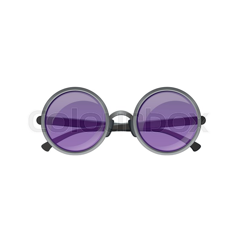 17a2f43857 Icon of round circular sunglasses with ...