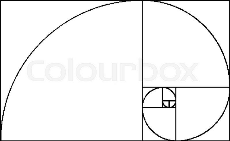 golden ratio template composition spiral guideline illustration