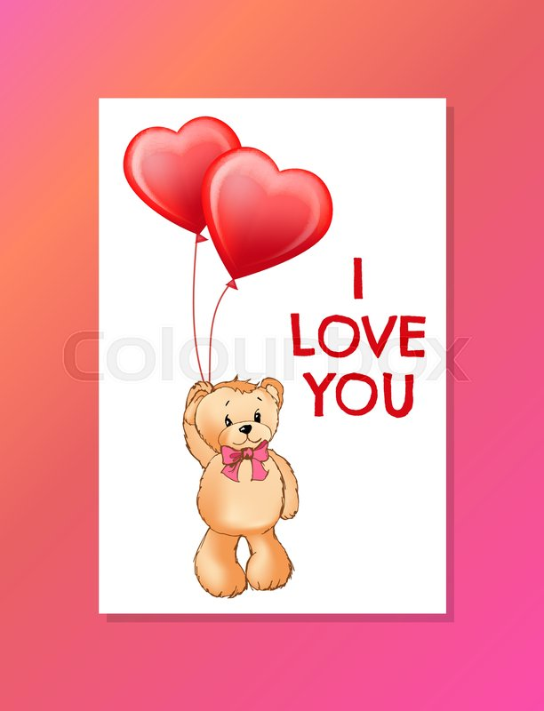I Love You Inscription On Poster With Stock Vector Colourbox