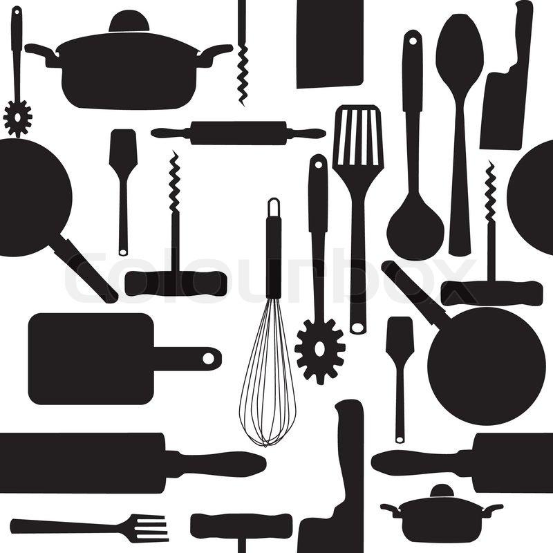 Vector Seamless Pattern Of Kitchen ...