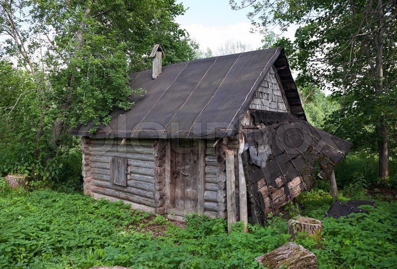 Old wooden house in russian village | Stock Photo | Colourbox