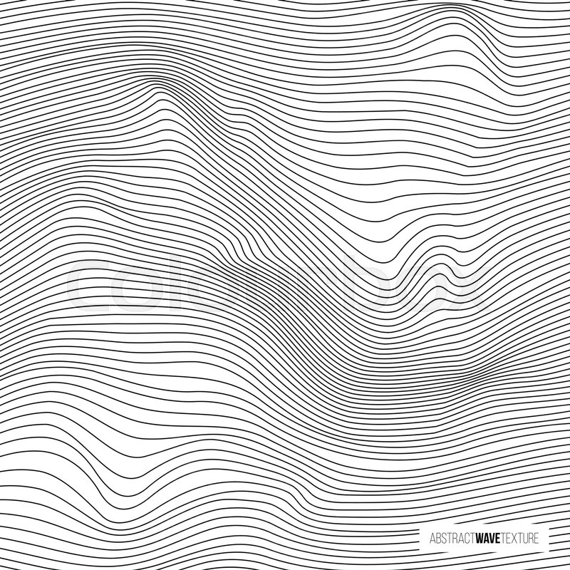 Abstract Wave Texture Vector Black Line Wavy Pattern Stock Awesome Wavy Pattern