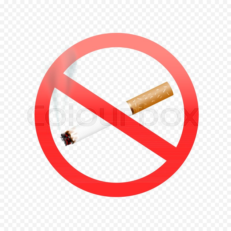 No Smoking Symbol Stop Smoke Sticker Cigarette Forbid Sign On