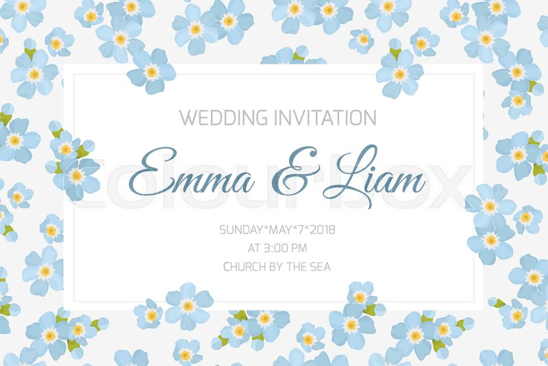 Wedding marriage event invitation card ... | Stock vector | Colourbox