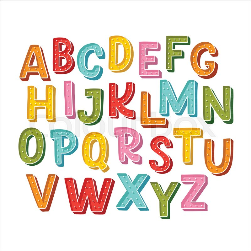 Cute hand drawn alphabet made in vector doodle letters for your doodle letters for your design isolated characters handdrawn display font for diy projects and kids design stock vector colourbox thecheapjerseys Gallery