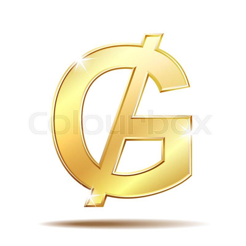 Paraguayan Guarani Currency Symbol Gold Money Sign Vector