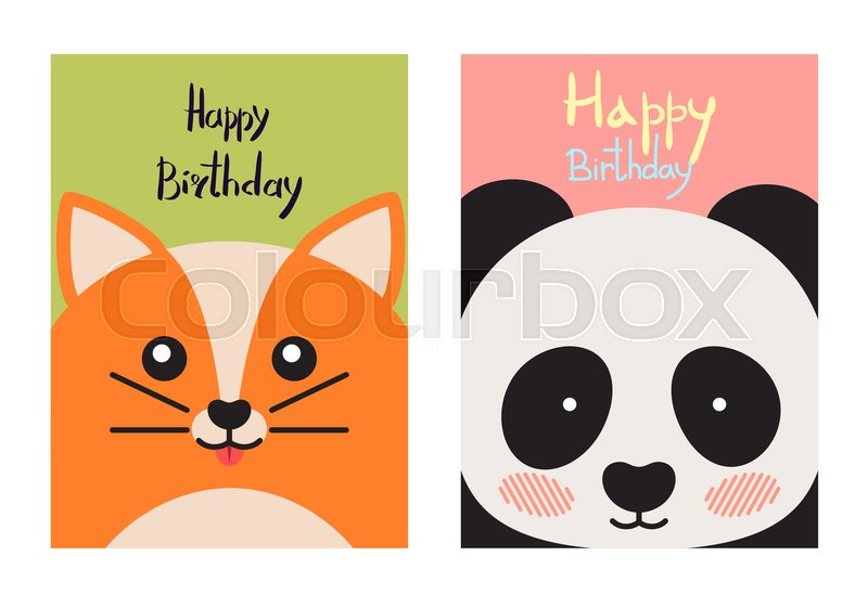 Happy Birthday Cards Collection With Kitten And Whiskers And