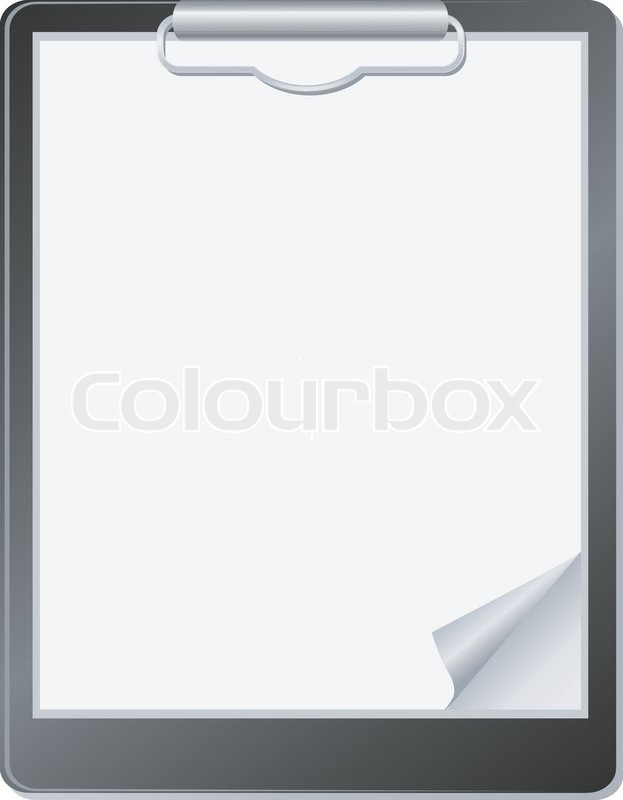clipboard with paper stock vector colourbox
