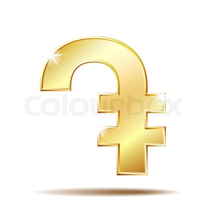 Armenian Dram Currency Symbol Gold Money Sign Vector Illustration
