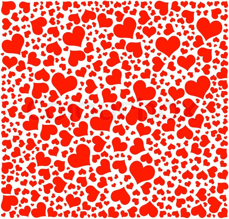 Hearts Background Happy Valentine S Day Stock Vector Colourbox