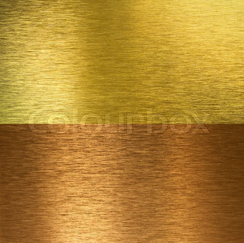 Brushed Bronze And Brass Stitched Stock Photo
