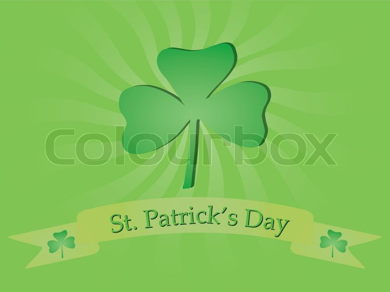 Background With Shamrock For St Patricks Day Stock
