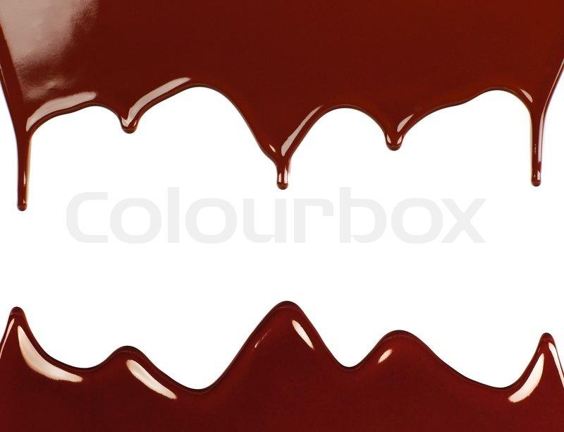 Dark sweet tast... Dripping Chocolate Background