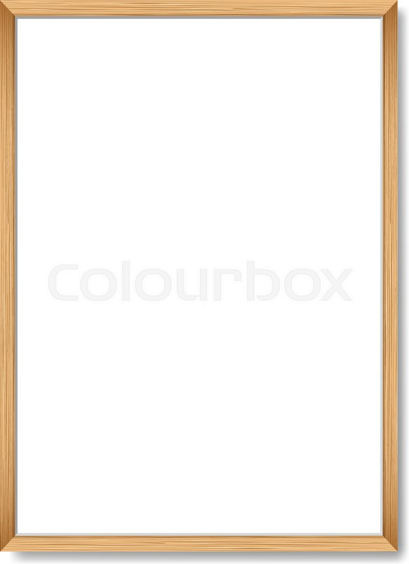 Blank picture frame template realistic wooden frame for poster a4 blank picture frame template realistic wooden frame for poster a4 stock vector colourbox maxwellsz